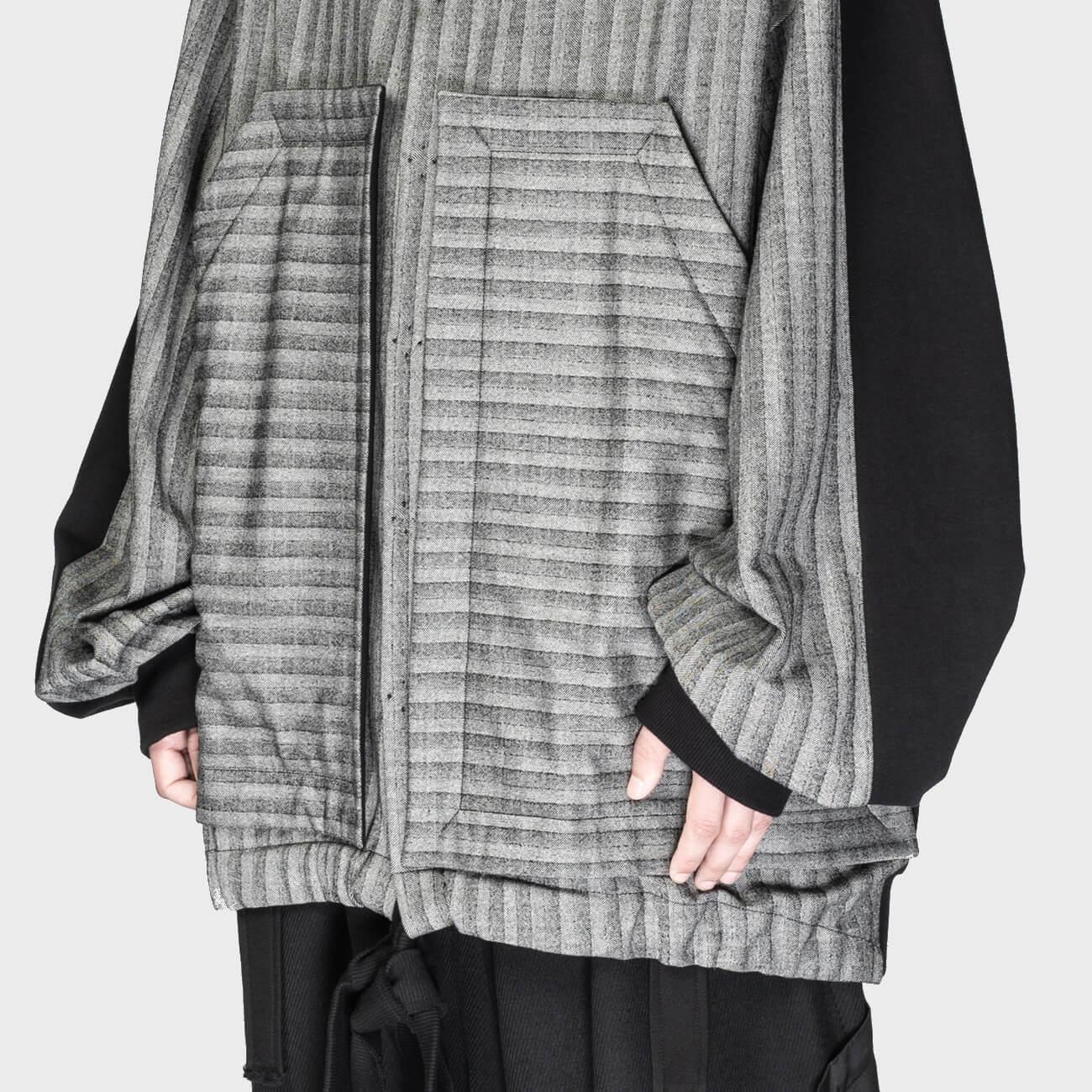 SOSNOVSKA Unfocused Stripe Hoodie